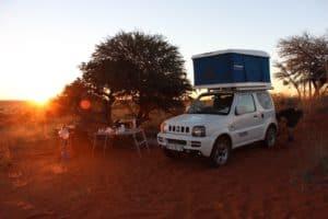 Camping mit Dachzelt
