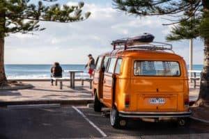 VW Campervan am Strand