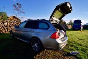Scheibenfolie, Moskitonetz und Zubehör für Camping im Auto BMW Touring E91