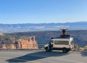 VanLife Mercedes Benz Sprinter Dachbox Camping Fahrrad