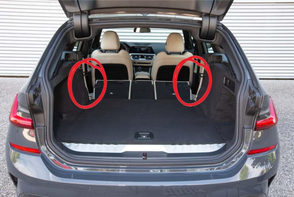 BMW 3er Touring G20 - Platz für Auto Kofferraum Matratze ausmessen